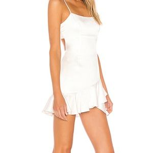 NWT lovers and friends white silk dress